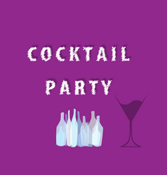 Cocktail party ilustration vector