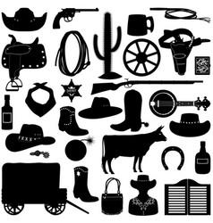 cowboy pictograms vector image vector image