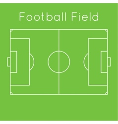 Green football field vector image vector image