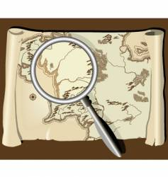 map with magnifier vector image vector image