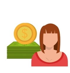 Money and business profits vector image