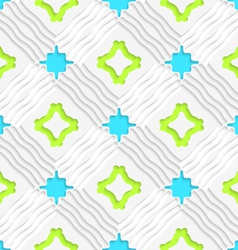 Wavy lines with blue and green seamless vector