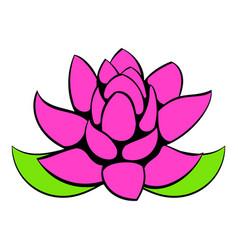 lotus flower icon cartoon vector image vector image