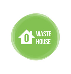 zero waste house concept icon design element vector image