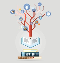 Book with knowledge business strategy plan concept vector image vector image