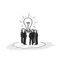business people brainstorm idea vector image