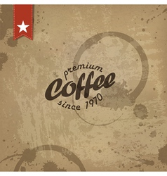 coffee abstract grungy poster vector image vector image