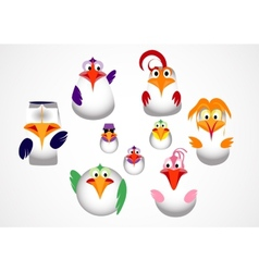 cute little birds vector image vector image