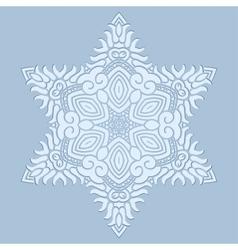 Design snowflake vector image