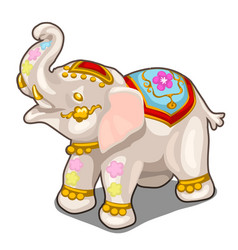 figurine of indian white elephant isolated vector image vector image