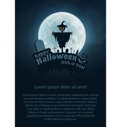 Happy Halloween Flyer vector image vector image