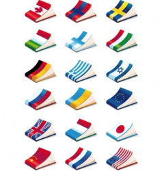 language icons vector image vector image