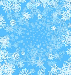 background with snowflakes blue vector image