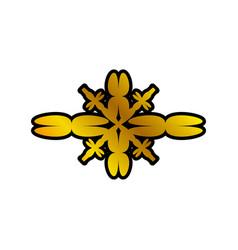 decoration ornament element antique golden vector image