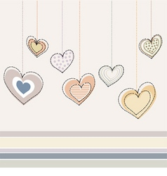 decorative heart design vector image