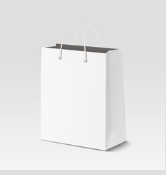 Empty shopping paper bag for advertising vector image vector image