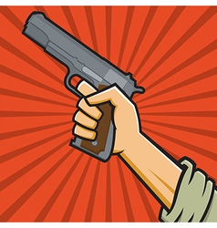 Fist Holding 1911-style Pistol vector image