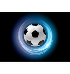 football neon light dark blue vector image