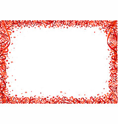 red confetti background vector image vector image