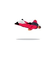 Wingsuit BASE jumper sign vector image