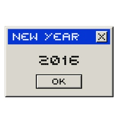 2016 computer message vector image