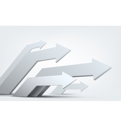 Abstract 3d arrows vector image