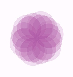 Abstract flower pink geometrical vector image