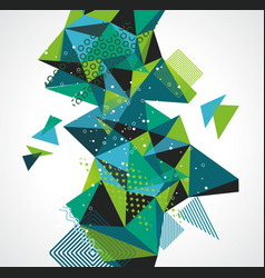 abstract geometric 3d polygonal background vector image