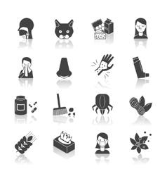 Allergy Icon Black vector image