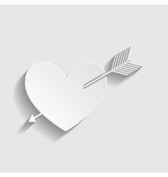 Arrow heart icon vector image