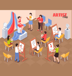 artist class isometric vector image