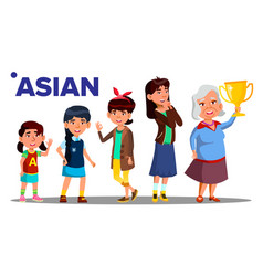 asiatic generation female people person vector image