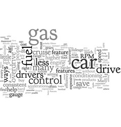 Automobile features that can save fuel vector