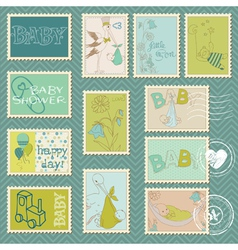 Baboy postage stamps vector
