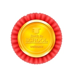Back to school congratulations vector image