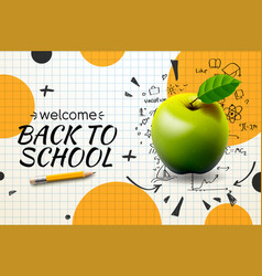 Back to school poster and web banner with vector