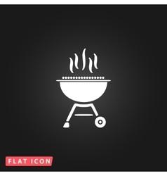 Barbecue grill menu icon vector