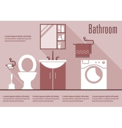 Bathroom flat design interior vector