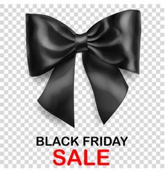 big black bow and inscription black friday sale vector image