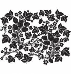 black ornament vector image vector image