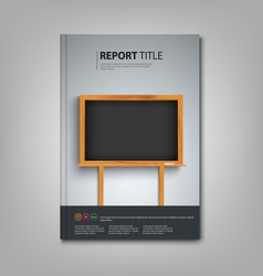 Brochures book or flyer with black board in the vector image