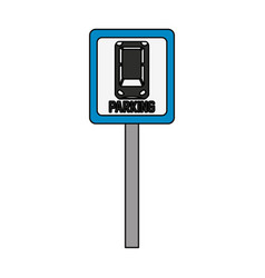 car parking icon image vector image vector image