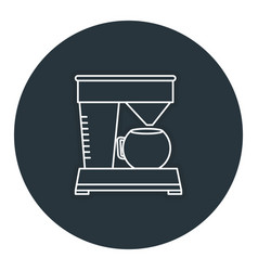 Coffee machine isolated icon vector