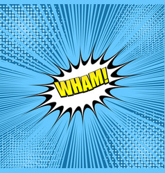 Comic colorful wham wording concept vector