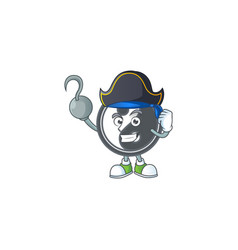 Cool one hand pirate yin yang cartoon wearing hat vector