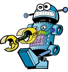 Crazy robot vector