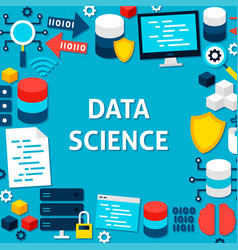 Data science paper template poster vector