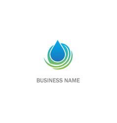 droplet water bio logo vector image