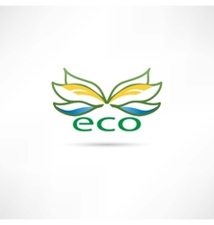 eco compani icon vector image