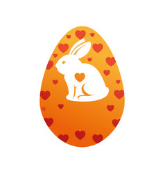 Egg easter bunny decor vector